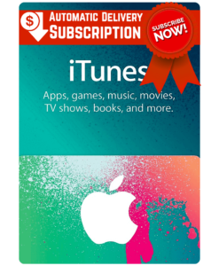 iTunes gift card automatic delivery