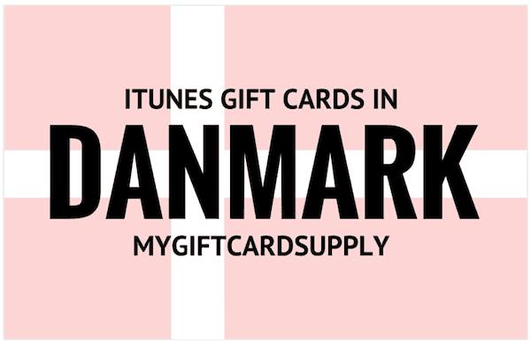 ITunes gift cards in Danmark