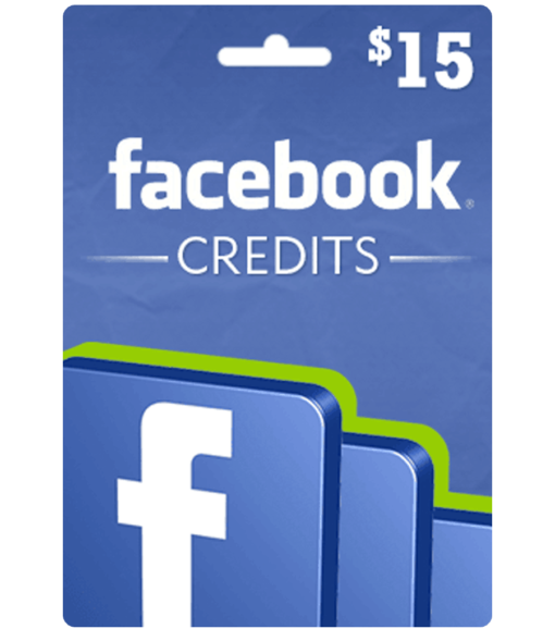 Facebook gift card $15 Value