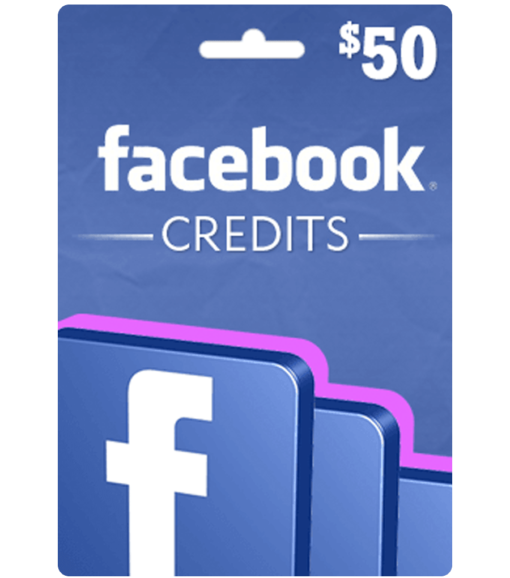 Facebook Gift Card $50 Value