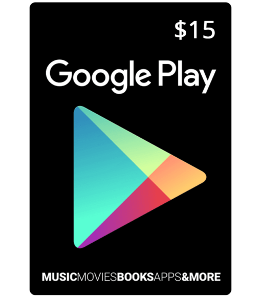 Google Play Card $15 Product Image