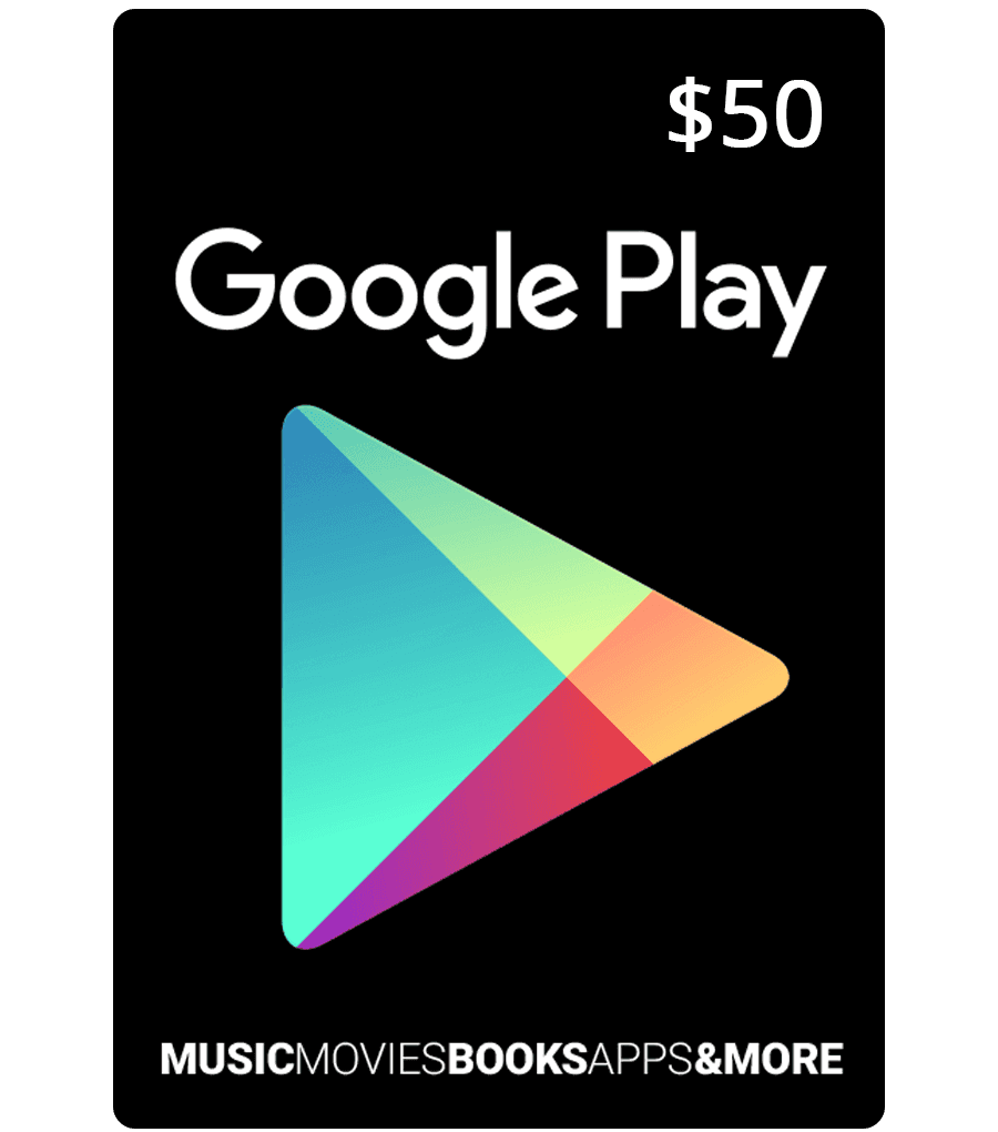 Google Play Card 50 Us Email Delivery Mygiftcardsupply