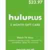 Hulu Plus 3 Month Gift Card Product Image