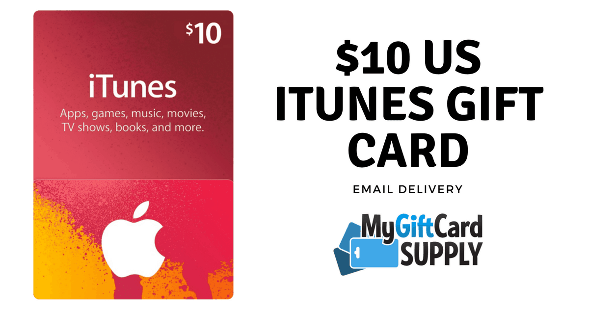 $10 US iTunes Gift Card with Email Delivery