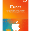 $25 iTunes gift card product image