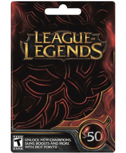 League of Legends Cards with Email Delivery - MyGiftCardSupply