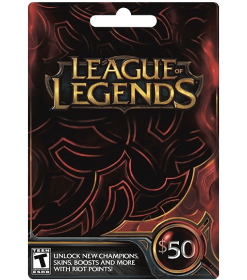 League of Legends card $50 product image