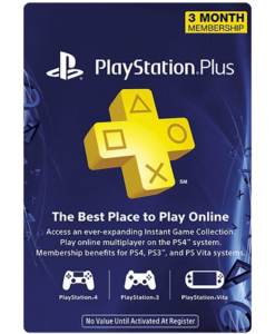 PSN plus 3 month product image
