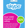 Skype Gift Card $25 Value