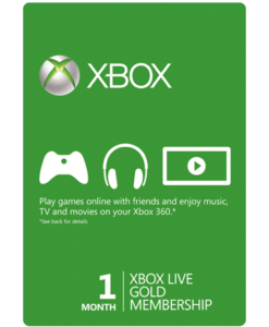 Xbox Live 1 Month Gift Card Product Image