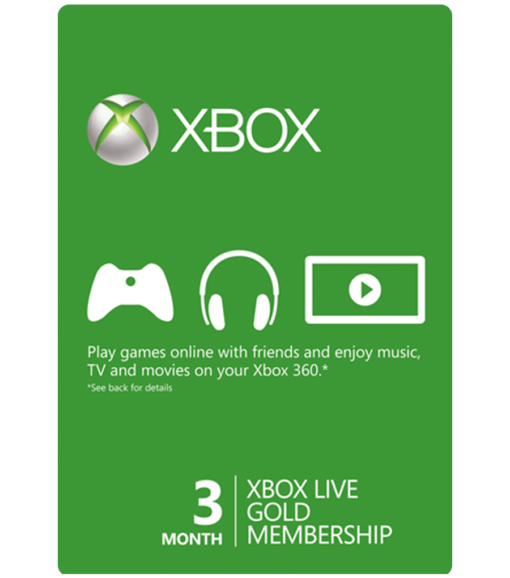 Xbox Live 3 Month Gift Card Product Image