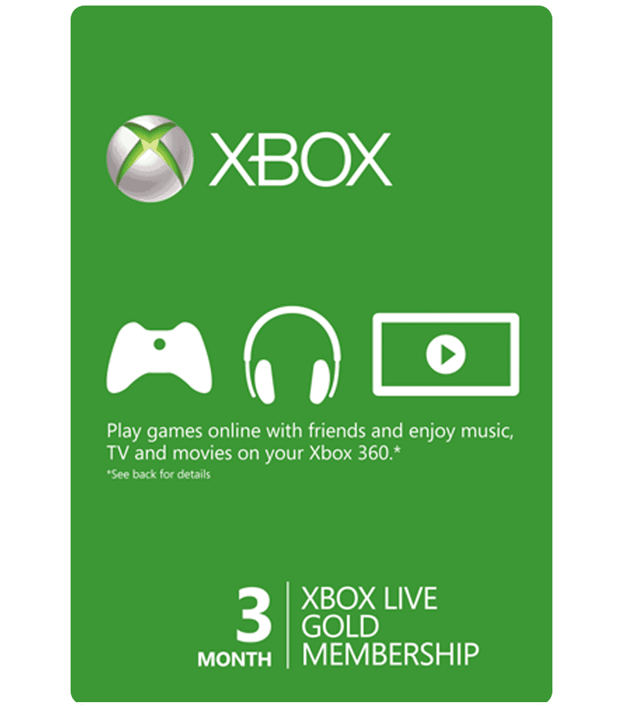 Xbox Live Card 3 Month (US) [Email Delivery]