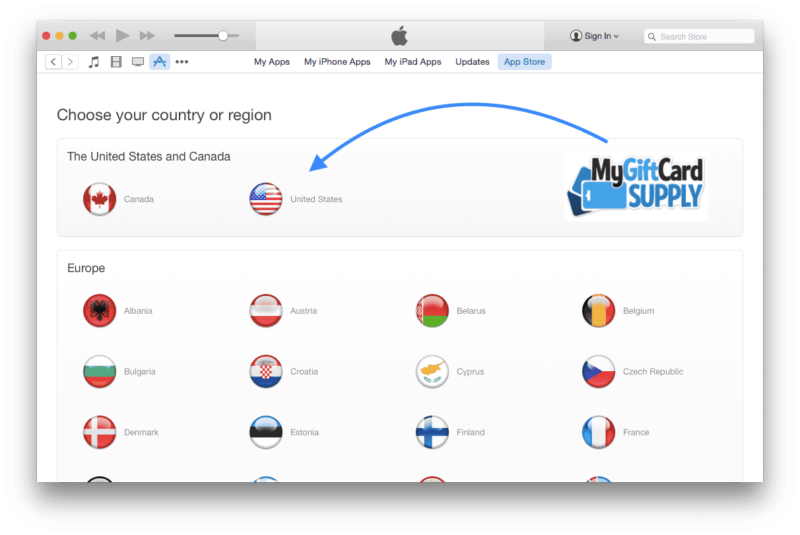 Create a US iTunes account Step 2