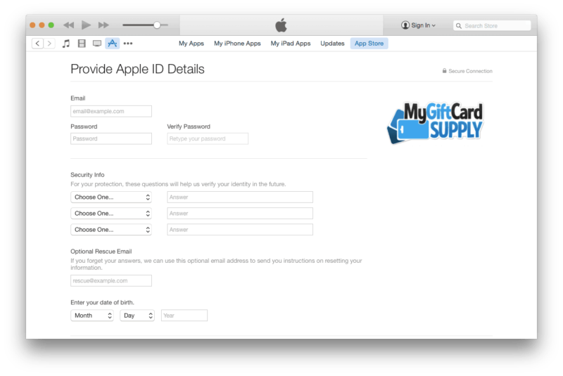 Create a US iTunes account Step 6