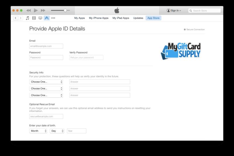 Create a US iTunes account Step 6