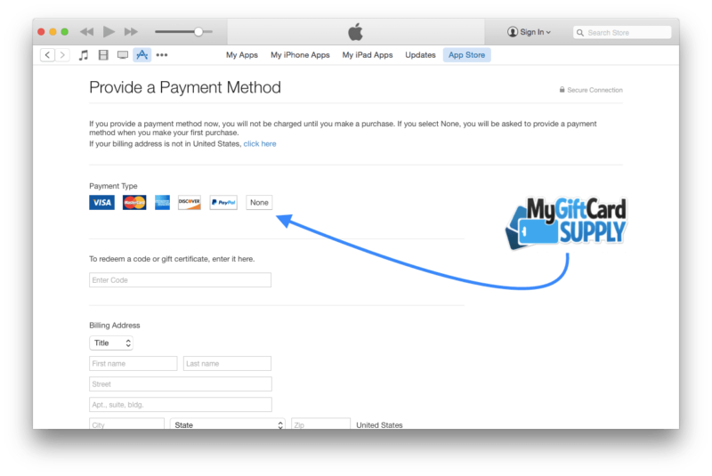Create a US iTunes account Step 7