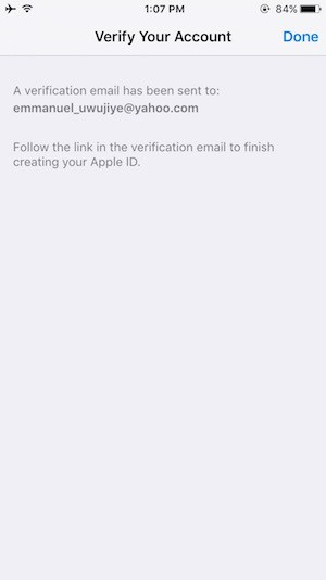 Create iTunes account on iOS Step 10
