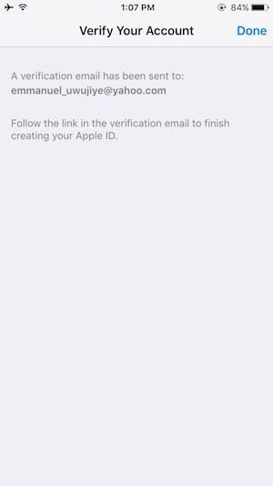 Create iTunes account on iOS Step 10