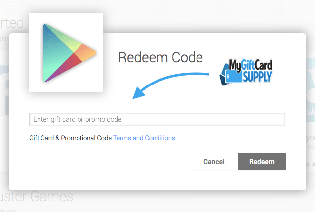 How to Redeem your Google Play Card