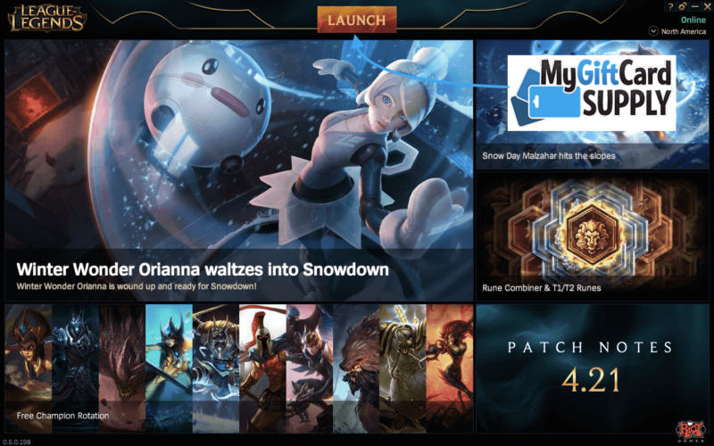 How To Redeem Your League of Legends Game Card -
