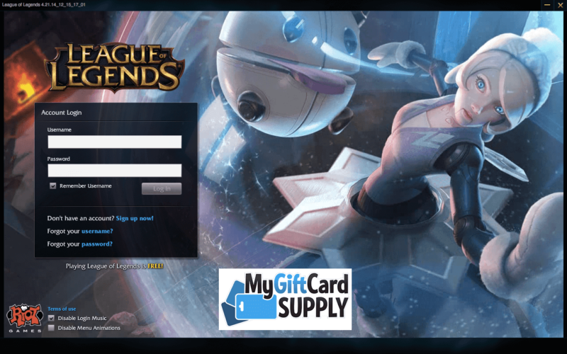 How to Redeem LoL Game Card Step 2