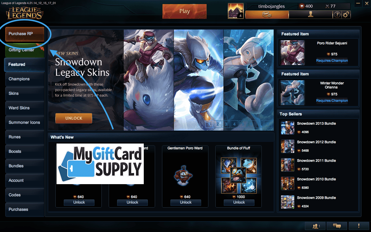 How To Redeem Your League of Legends Game Card
