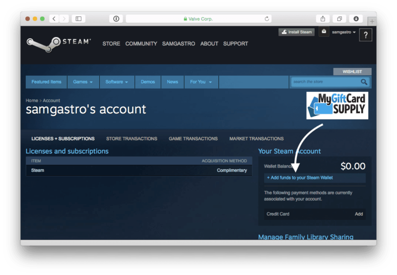How to Redeem Steam Card Step 3