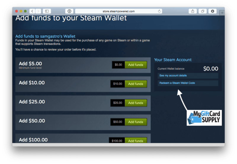 How to Redeem Steam Card Step 4