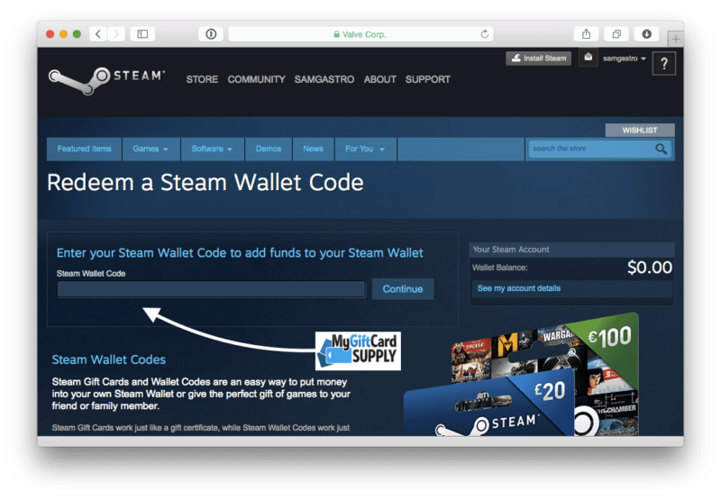 How to Redeem Steam Card Step 5
