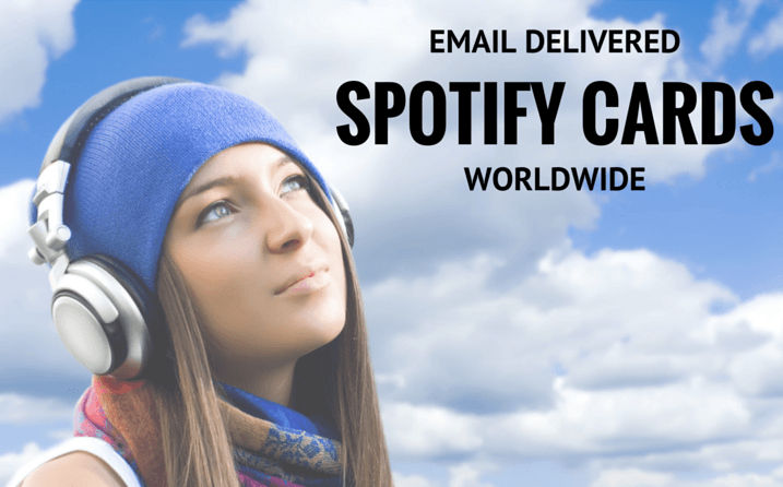 Use email to download your spotify gift cards