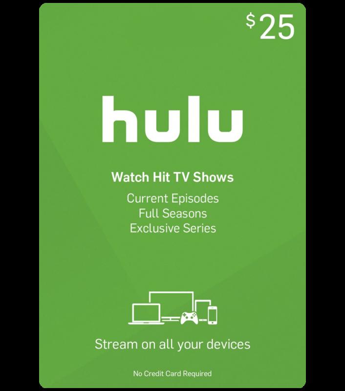 US Hulu Gift Card $25