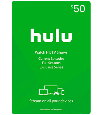 US Hulu Gift Card $50
