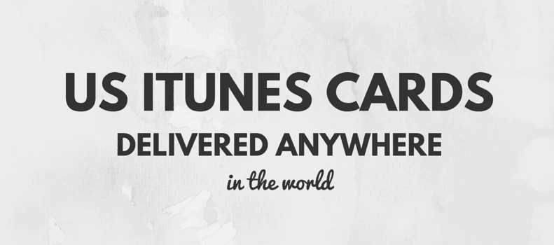 Use an US iTunes gift card from anywhere in the world.