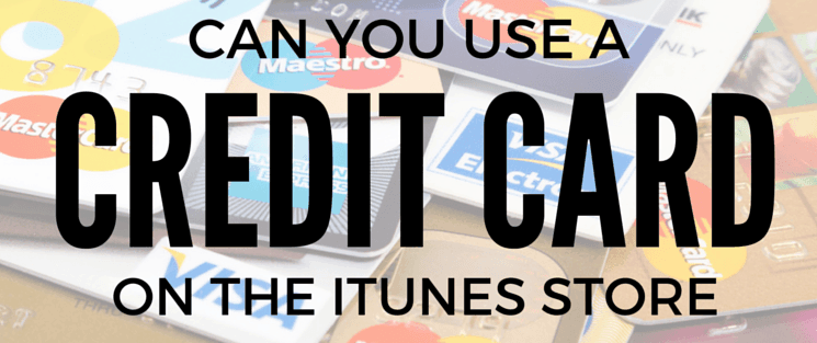 Using a credit card to buy iTunes gift cards