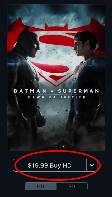 Buy Batman vs Superman on iTunes
