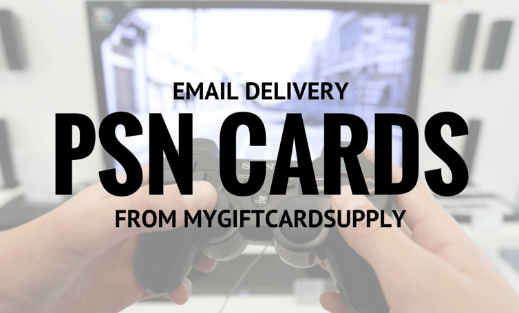 PSN card with email delivery