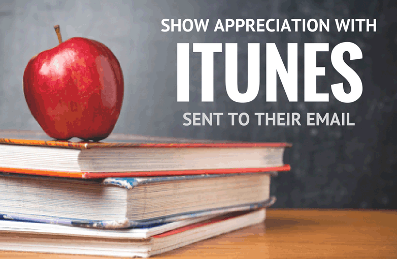 Show them appreciation with iTunes