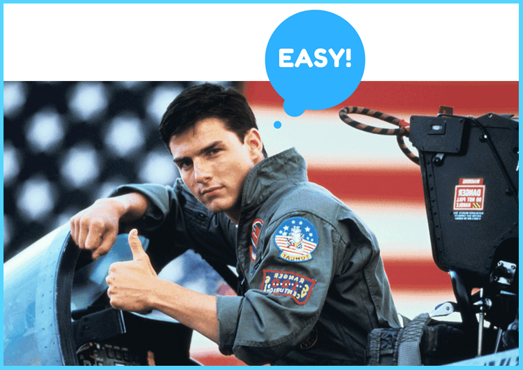 It's so easy, even Tom Cruise can do it!