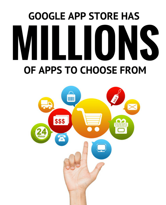 Choose from millions of apps