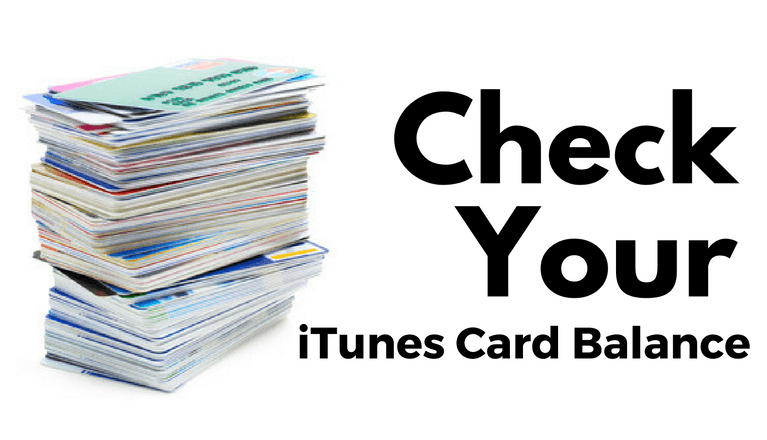 Check your itunes balance now
