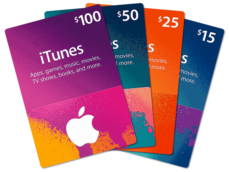 iTunes Gift Cards via Email