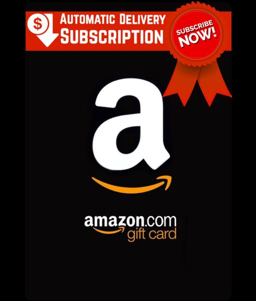 Amazon gift card subscription