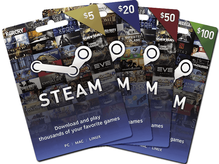 Buy Us Steam Gift Cards Email Delivery Mygiftcardsupply