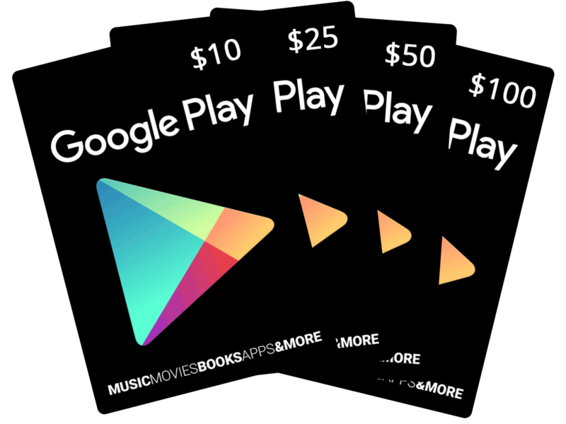 Buy a Google Play card for email