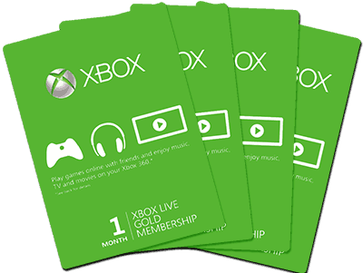 Xbox Live Cards fanned out