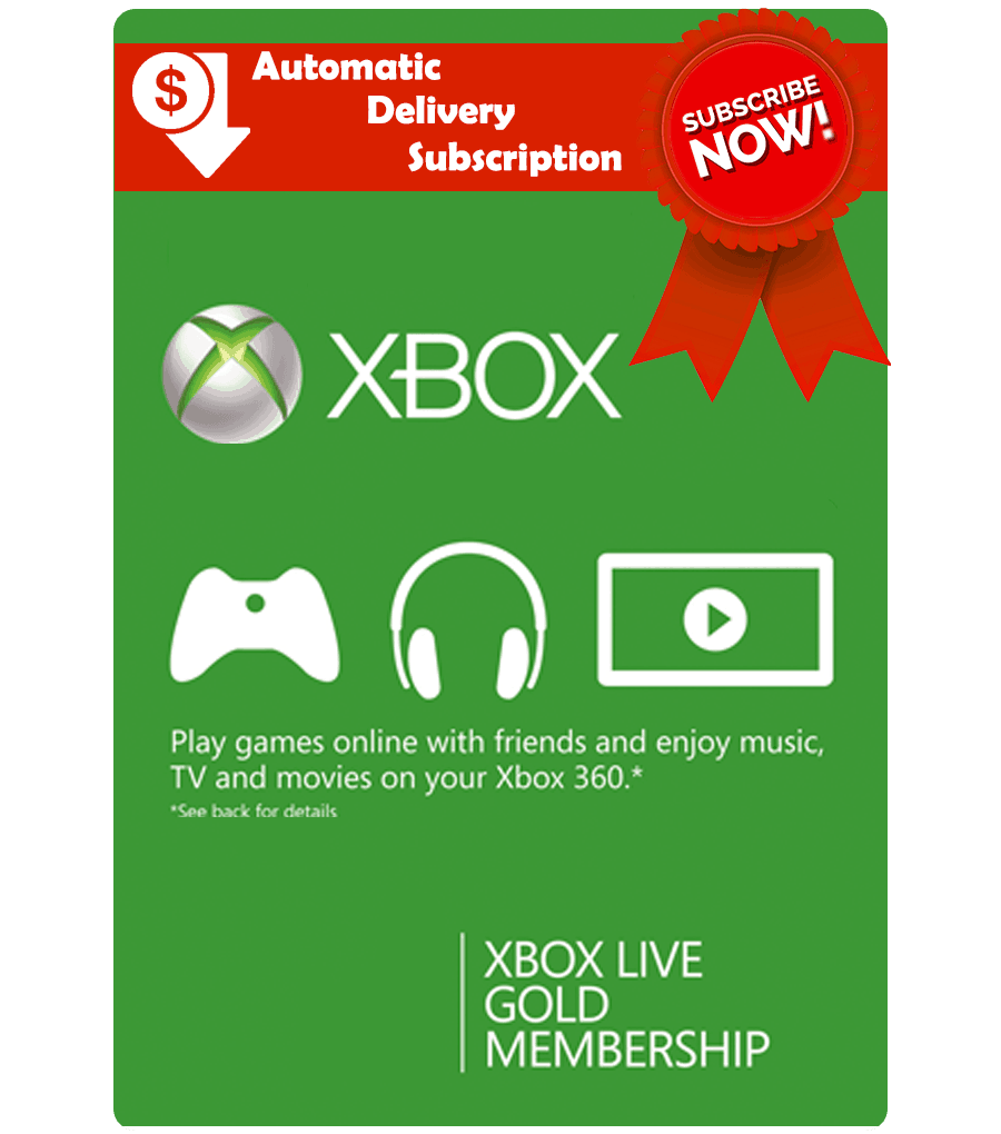 Xbox Live Card Subscription