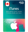 canadian itunes gift cards $50