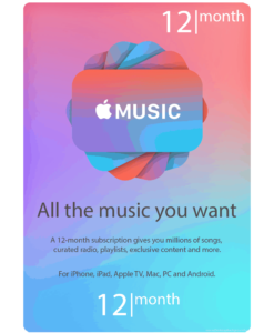 12 Months Apple Music
