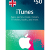 UK iTunes Card 50