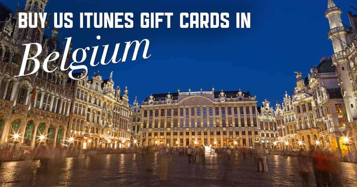 Shop US iTunes in Belgium